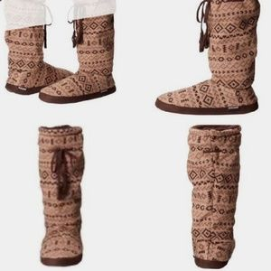 Muk Luks Sweater Slipper Boots